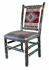 southwest dining chairs queen anne recliner room southwestern ebay rustic hickory upholstered seat and back chair red diamond