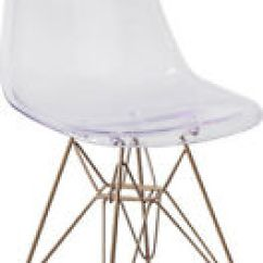 Mid Century Modern Plastic Chairs Table And Garden Dining Room Ebay Stylish Design Accent Chair In Clear Finish