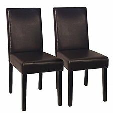 solid wood chairs rocker x gaming chair ebay dining room set of 2 urban style leatherette padded parson