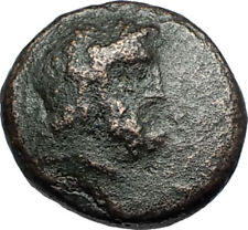 PERGAMON in Mysia 200BC Ancient Greek Coin ASCLEPIUS Medicine SNAKE STAFF i67844