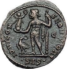 LICINIUS I Authentic Ancient 315AD Siscia Roman Coin w JUPITER & VICTORY i67968