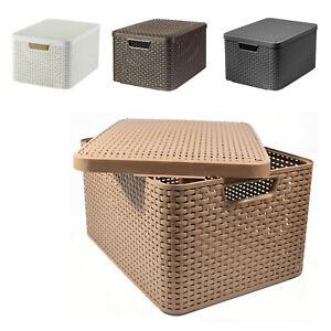 boites de rangement en plastique avec