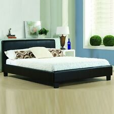 Bed Frame Double King Size Leather Beds With Memory Foam Mattress Deal