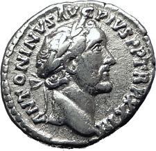 ANTONINUS PIUS 156AD Rome Authentic  Ancient Silver Roman Coin SALUS i70308