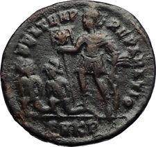 CONSTANTIUS II w Chi-Rho Labarum & Captives Authentic Ancient Roman Coin i70728