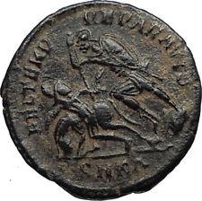 CONSTANTIUS II 355AD Cyzicus Authentic Ancient Roman Coin w BATTLE SCENE i67097