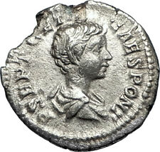 GETA 199AD Rome Silver Authentic Ancient Roman Coin Nobilitas Palladium  i67350