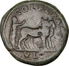 SEVERUS ALEXANDER Colonists Founding Pomerium Deultum Ancient Roman Coin i12593