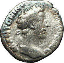 COMMODUS 177AD Silver Authentic Ancient Roman Coin Equality Aequitas  i76524