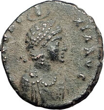 EUDOXIA Arcadius Wife 400AD Authentic Ancient Roman Coin HAND OF GOD i64520