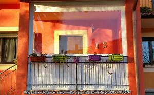 Tenda da balcone in plastica per esterni, isolante, antipolvere, antipioggia, copertura impermeabile per piante, serra, plastica, trasparente, 2x2 m. Pvc Trasparente A Tende Per La Casa Acquisti Online Su Ebay