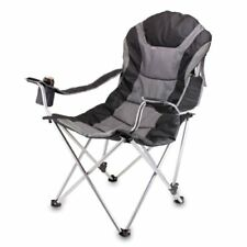rocky oversized folding arm chair glider rocking target reclining chairs camping furniture ebay picnic time portable camp black gray