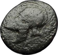 MESEMBRIA Thrace Authentic Ancient Greek Coin CORINTHIAN HELMET WHEEL  i69191