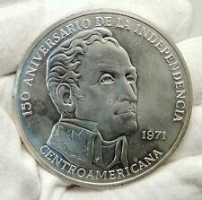 1971 PANAMA Huge 6.2cm Proof Silver 3.8oz 20 Balboas Coin w SIMON BOLIVAR i76336