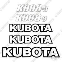 2- KUBOTA FLAMING BLACK DECALS 3 1/2