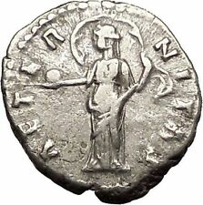 Faustina I 148AD Authentic Ancient Silver Roman Coin w ETERNITY Goddess  i57510