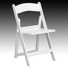 folding chairs for sale nautical chair cushions garage plastic ebay flash furniture hercules series 1000 lb capacity white resin with