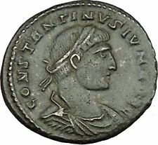 CONSTANTINE II Constantine the Great son Roman Coin Military camp Gate  i39590