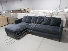 west elm dunham sofa reviews you can take apart ebay pottery barn toss back sectional chaise velvet shadow 2 pc