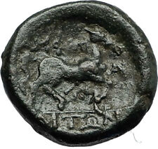 AMPHIPOLIS in Macedonia 146BC RARE R2 Ancient Greek Coin POSEIDON & HORSE i66787