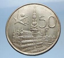 1958 BELGIUM - Silver 50 Francs Coin - BRUSSELS WORLD's FAIR 58 Baudouin i69612