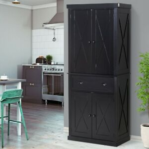 Kitchen Black Pantry Cabinets For Sale In Stock Ebay