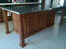 handmade kitchen islands mobile home cabinets discount carts ebay stainless steel
