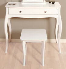 white chairs for bedroom wedding chair rental cost ebay rococo 1 drawer night stand wood sleek bedside table chest storage