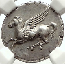 SYRACUSE in SICILY Silver Greek Coin like Corinth Stater Pegasus NGC ChXF i67718