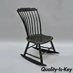 Black Rocking Chairs Steelcase Leap Chair V1 Vs V2 American Antique Furniture Ebay Child S Bow Back Windsor Rocker Hitchcock Style