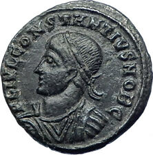 CONSTANTIUS II Constantine the Great son Ancient Roman Coin Camp GATE  i73445