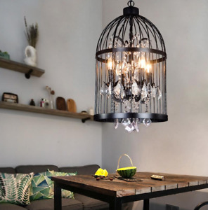 bird cage lamp in chandeliers ceiling