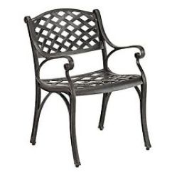 Black Patio Chairs Bed Bath And Beyond Wing Back Chair Covers Ebay Aluminum