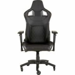 Gaming Chair Ebay Red Dining Chairs Nz Pc Corsair T1 Race Black