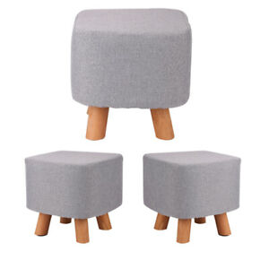 padded stool in ottomans footstools