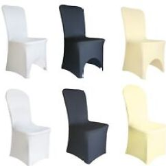 Black Banquet Chair Covers For Sale Leather Wingback Chairs Cape Town In Wedding Venue Decorations Ebay Spandex Lycra Cover White Ivory Party
