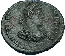 VALENTINIAN II w Woman 378AD Rome Authentic Ancient Roman Coin VICTORY i65801