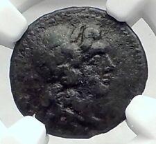 KATANE in SICILY Authentic Ancient 339BC Greek Coin APOLLO APHRODITE NGC i77354