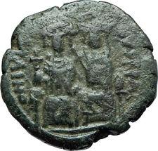 JUSTIN II & SOPHIA 565AD Constantinople Follis Ancient Byzantine Coin i66084