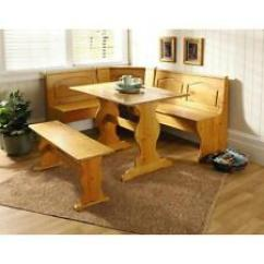 Kitchen Table With Bench And Chairs Used Cabinets For Free Dining Furniture Sets Ebay Nook Solid Wood Corner Breakfast Set Chair Booth Pine
