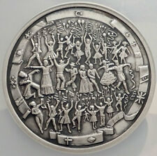 2002 TURKEY 30 Million Lira HUGE 6cm Silver coin CHILDREN's DAY Medallion i67621
