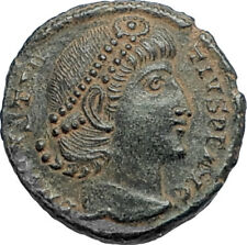 CONSTANTIUS II Authentic Ancient 347AD Roman Coin of Antioch w WREATH i67112