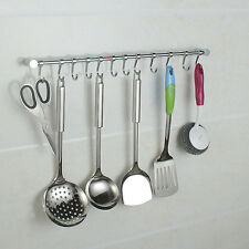 kitchen tool holder red clock wall utensil ebay 12 hooks gadget set hanging rail rack bathroom