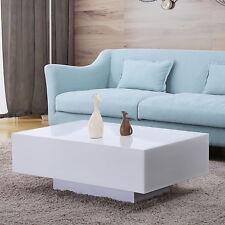 modern table for living room rustic elegant designs rectangular tables sale ebay 33 high gloss white coffee side end furniture