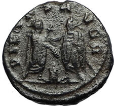 GALLIENUS & Father VALERIAN I at Altar Authentic ANCIENT 255AD Roman Coin i67212