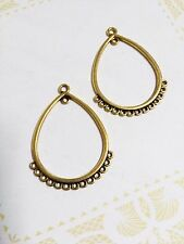 Earring Findings Chandelier Antiqued Gold Connector Pendants 10