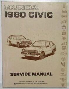 1980 Honda Civic For Sale : honda, civic, Service, Repair, Manuals, Honda, Civic