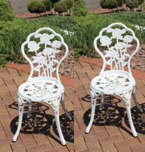 white cast iron patio garden