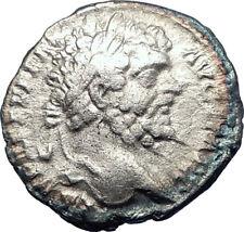 SEPTIMIUS SEVERUS 198AD Authentic Ancient Silver Roman Coin PAX Peace i73578