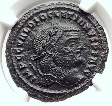 DIOCLETIAN Authentic Ancient 295AD Follis Ancient Roman Coin GENIUS NGC i73296